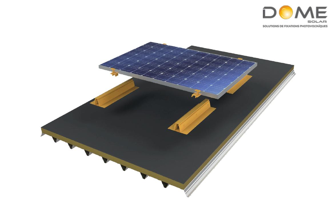 dome solar roof solar bitume